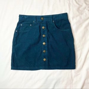 Billabong Green Corduroy Mini Skirt